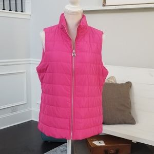 Michael Kors Pink Puffer Vest in Size Large